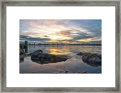Sunset Over Lake Kralingen  Framed Print