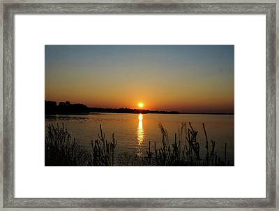 Sunset Over Lake Norman Framed Print