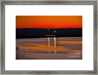 Framed Print featuring the photograph Sunset Over Lake Texoma by Diana Mary Sharpton