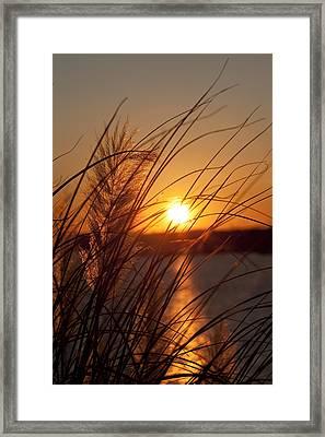 Sunset Over Lake Wylie Sc Framed Print