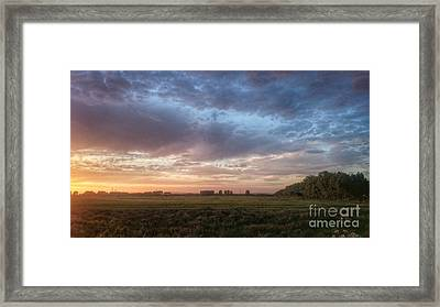 Sunset Over Cheshire Landscape Framed Print by Isabella F Abbie Shores FRSA