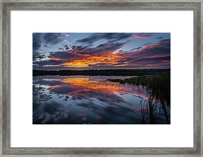Sunset Over Little Sugarloaf IIi Framed Print