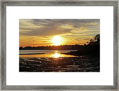 Sunset Over Lynch Park Beverly Ma Framed Print