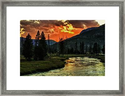 Sunset Over Madison River Framed Print