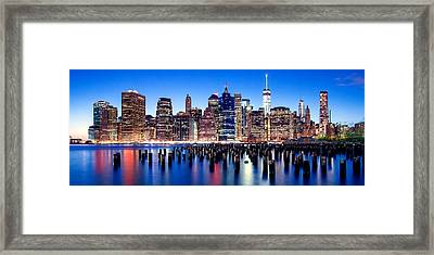 Magic Manhattan Framed Print by Az Jackson