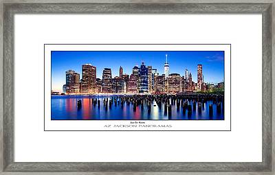 Sunset Over Manhattan Poster Print Framed Print by Az Jackson
