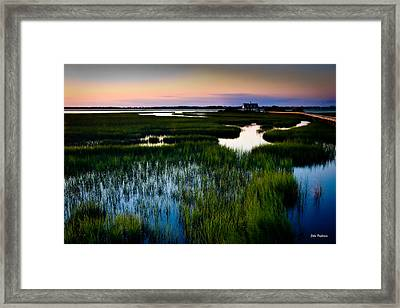Sunset Over Marsh, Atlantic Beach, North Carolina Framed Print