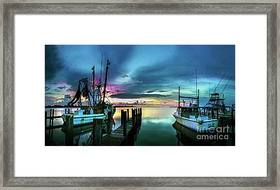 Sunset Over Matlacha Florida Framed Print