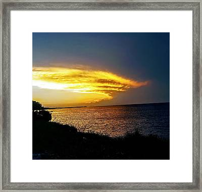 Sunset Over Mobile Bay Framed Print