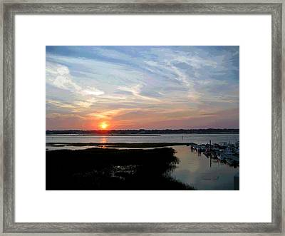 Sunset Over Murrells Inlet II Framed Print by Suzanne Gaff