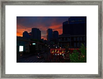 Sunset Over Nashville Framed Print by Susanne Van Hulst