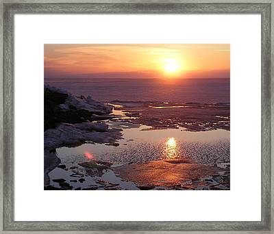 Sunset Over Oneida Lake - Horizontal Framed Print
