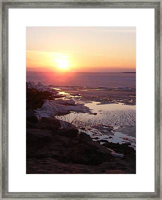 Sunset Over Oneida Lake - Vertical Framed Print