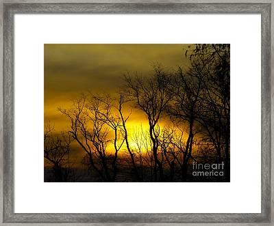 Sunset Over Our Free Land Framed Print