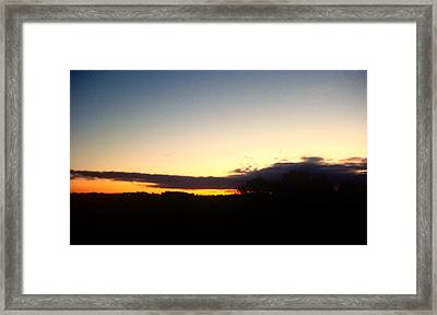 Sunset Over Oxford Framed Print by Marcia Crispino