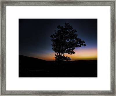 Framed Print featuring the photograph Sunset Over Pennsylvania by Maciek Froncisz