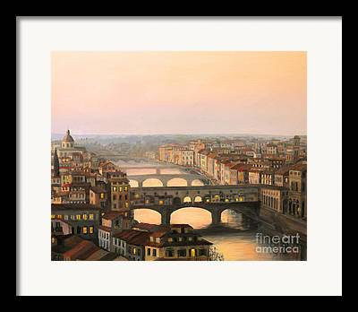 Tuscan Sunset Framed Prints