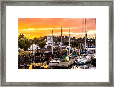 Framed Print featuring the photograph Sunset Over Port Townsend by TL  Mair
