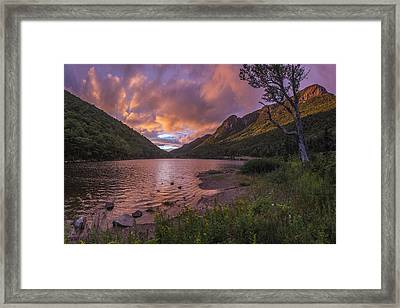 Sunset Over Profile Lake Framed Print