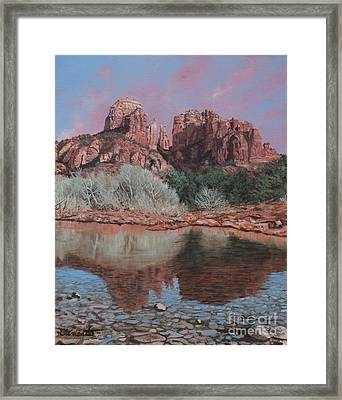 Sunset Over Red Rocks Of Sedona  Framed Print