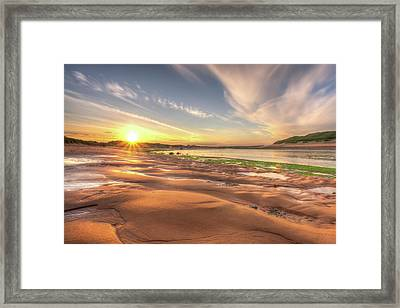 Sunset Over River Ythan Framed Print