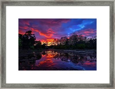 Sunset Over Riverbend Park In Jupiter Florida Framed Print