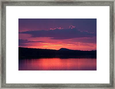 Sunset Over Sabao Framed Print
