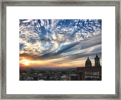 Sunset Over San Miguel De Allende Framed Print