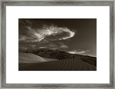 Sunset Over Sand Dunes Death Valley Framed Print by Steve Gadomski