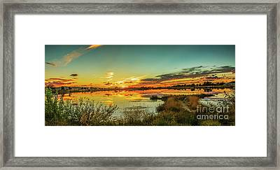 Sunset Over Sawyer Pond Framed Print