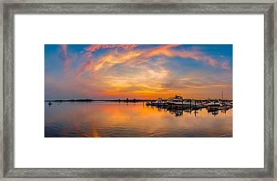 Sunset Over Shrewsbury Bay Framed Print