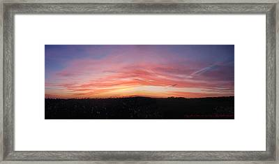 Framed Print featuring the photograph Sunset Over Sw Ontario P1 by Maciek Froncisz