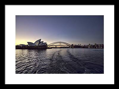 Sydney Skyline Framed Prints