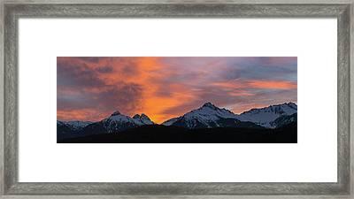 Sunset Over Tantalus Range Panorama Framed Print