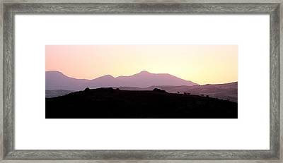 Sunset Over The Andalucian Mountains Near Villanueva De La Concepcion Framed Print by Mal Bray