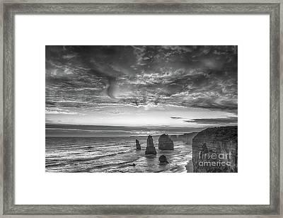 Sunset Over The Apostles Framed Print by Howard Ferrier