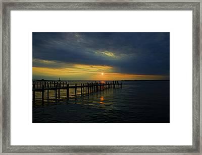Sunset Over The Bay Framed Print