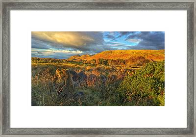 Sunset Over The Campsie Fells Framed Print by RKAB Works