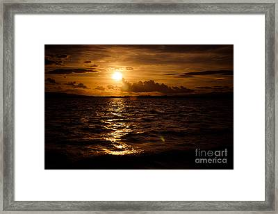 Sunset Over The Cunnigar Framed Print