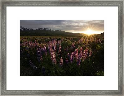 Sunset Over The Gore Range Framed Print