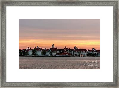 Sunset Over The Grand Floridian Framed Print