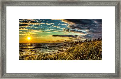 Sunset Over The Great Lake Framed Print