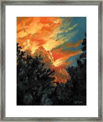 Sunset Over The Little Wekiva Framed Print by Liz Rose