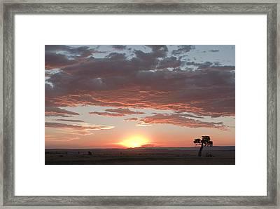 Sunset Over The Mara Framed Print