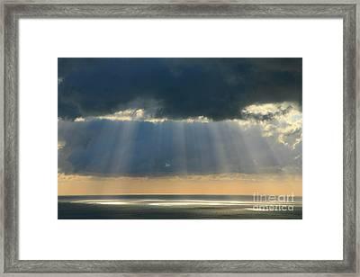 Sunset Over The Ocean Framed Print by Gaspar Avila