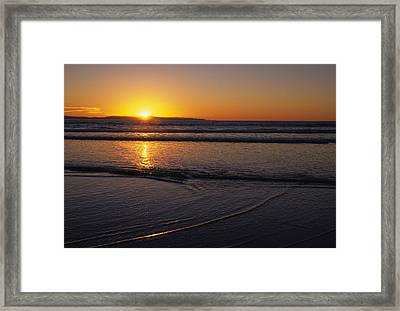 Sunset Over The Pacific Ocean Framed Print by Stacy Gold