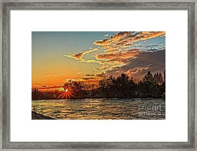 Sunset Over The Payette  Framed Print