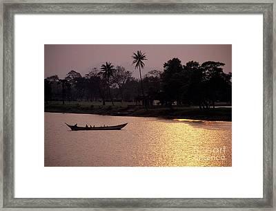 Sunset Over The Perfume River Framed Print by Sami Sarkis