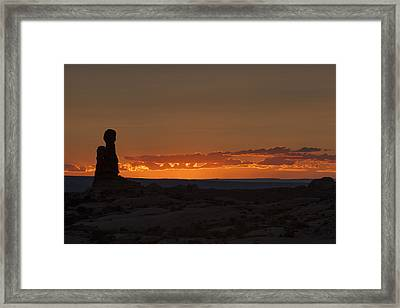 Sunset Over The Petrified Dunes Framed Print