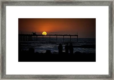 Framed Print featuring the photograph Sunset Over The Pier by Ryan Smith